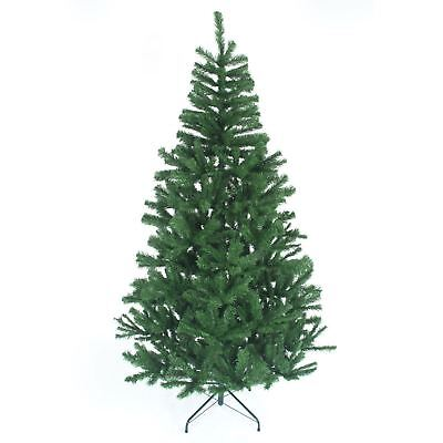8Ft Artificial Christmas Tree Green Metal Stand Bushy Xmas Home Decorations