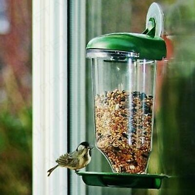 Glass Window Birds Hanging Bird Feeder Table Seed Peanut Suction Clear Watching
