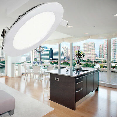 3W-24W LED Panel Light with Dimmable Flat Fixtures Recessed Ceiling Lamp +Driver