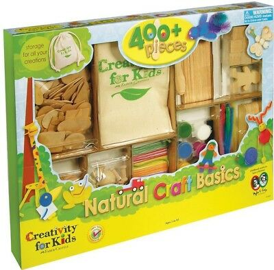 Creativity For Kids Kit Classic Wood Crafts.  Wooden Shapes to stick and colour