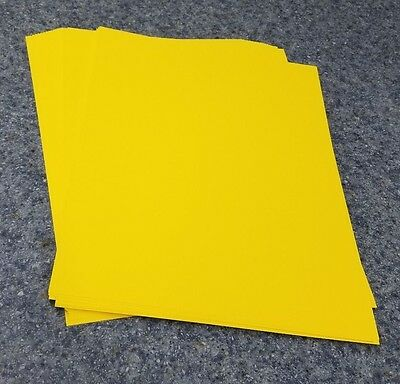 """25 Sheets of 8.5 X 11"""" 65lb. Yellow Brights Craft or Copy Card Stock"""