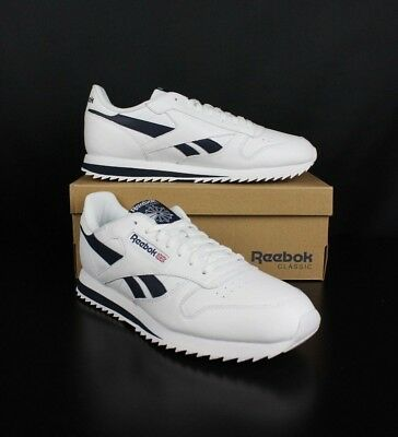 0422545f28c05 REEBOK BS8300 WHITE NAVY Classic Leather Ripple Low BP mens -  62.00 ...