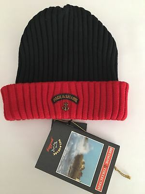 NEW Paul   Shark Winter Hat Capello Cap Beanie BRETAGNE BLUE NAVY - RED 2eae25c3cf44