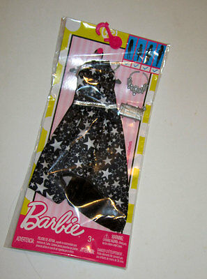Fashionistas Barbie Complete Look seeing stars Black white dress for halloween