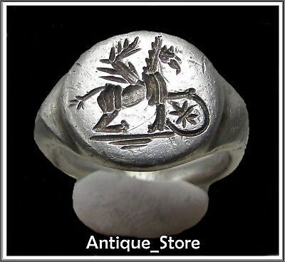 ** GRYPHON **Ancient Legionary Silver Roman Ring **AMAZING **