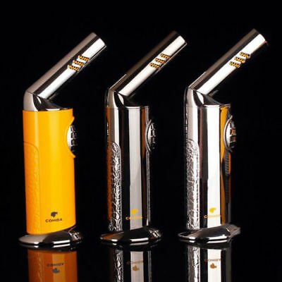 COHIBA New Style Windproof Torch Jet Flame Cigar Cigarette Lighter w/gift box