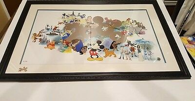 Disney Giant Sericel Welcoming a New Millennium 2000 LE Custom Framed with COA