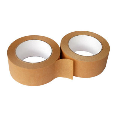 2 Rolls Of Brown ECO CRAFT PAPER TAPE 50mm x 50M ON SALE
