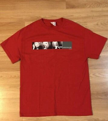 Madonna Drowned World Tour T-Shirt 2001 Red Sz Medium