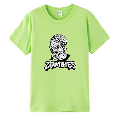 Zombies Punk Prints T-shirt Short Sleeve Men's Women's Summer Loose Tops Tee