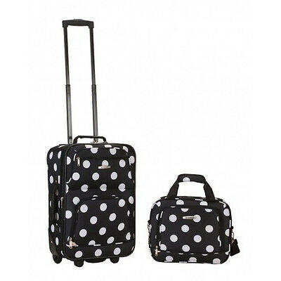 2 PC Luggage Set Expandable Rolling Suitcase Carry On Tote Bag Lightweight Women