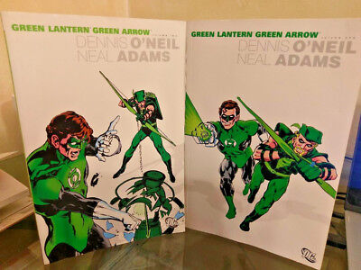 Green Lantern Green Arrow volume 1 and 2 softcover trade paperbacks Neal Adams