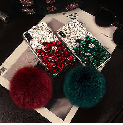 Rhinestone Bling Diamond Jeweled Crystal Case Cover For iPhone XR XS Max Note 9