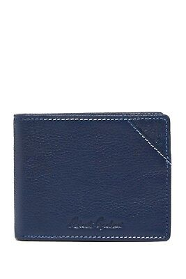 5a6e8c6f3307 Robert Graham Birch Leather Bifold Wallet navy new with tags packed