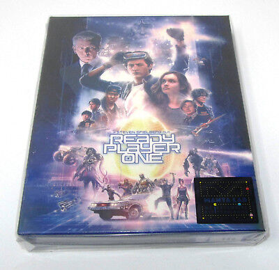 Ready Player One Manta Lab 4K UHD + 2D Blu ray Steelbook Full Slip -MINT