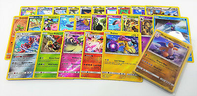 Pokemon TCG 25 Reverse Holographic Assorted Cards Lot with Rares & Holos
