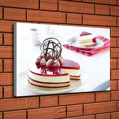 "Cake Coffee Western Food HD Canvas prints Painting Home decor Picture art16""x26"""