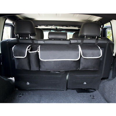 Premium Car Seat Back Protector Multifuction Kids'Toy Storage Bag Kick Mat Black