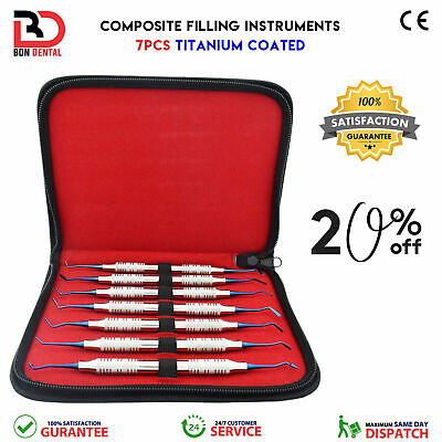 Dental Amalgam Composite Filling Instruments Restorative Equipment 7Pcs Kit SYZE