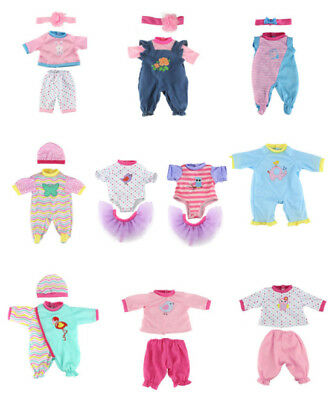 Dolls Jump Suit Reborn Baby Clothes Fit For 43cm Baby Born Doll Accessories US