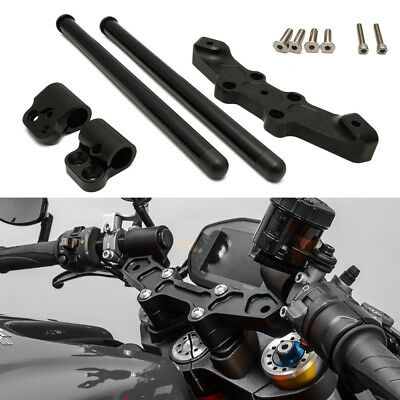 Lenkerstummel Stummellenker Clip On Lenker für Ducati Monster 696 796 1100