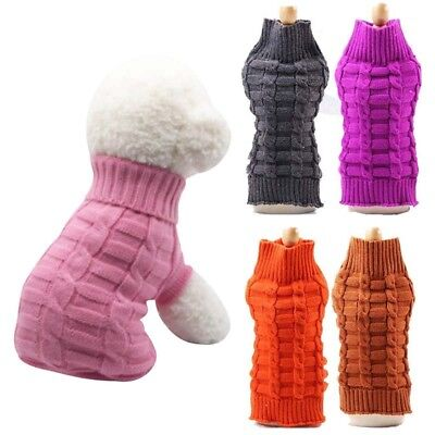 Pet Dog Cat Knitted Sweater Warm Puppy Coat Winter Jacket Jumper Clothes Costume