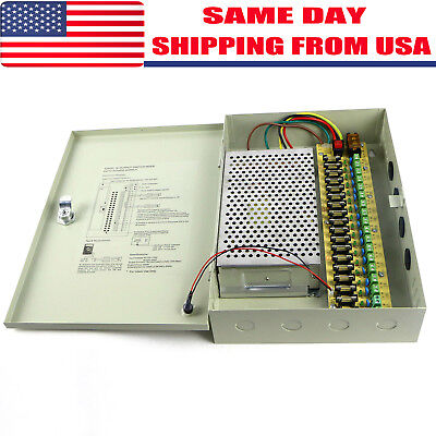 18 CH Ports 12V DC 20A Power Supply Distribution Box for CCTV Security Camera