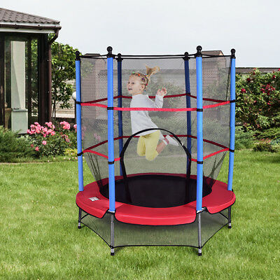 Kinder Trampolin Kindertrampolin Gartentrampolin Indoor Outdoor 140cm für Kinder