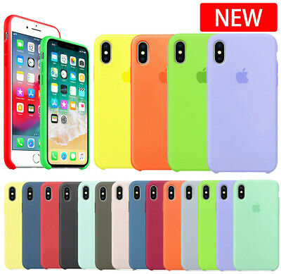 Genuine Original Hard Silicone Case Cover For iPhone 6/6s/7/8 Plus X/XS Max XR