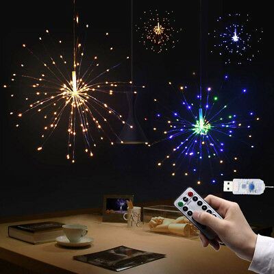 Firework LED Copper Wire Strip String Fairy Light Xmas Wedding Party Home Decor