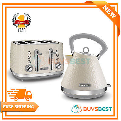 Morphy Richards Vector Pyramid Traditional 1.5L Kettle & 4 Slice Toaster Set