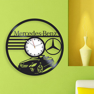 Vinyl Clock Mercedes-Benz Cars original gift for boys and girls home art silent