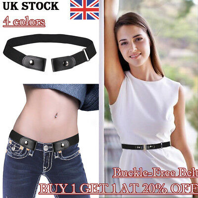 Unisex Buckle-Free Adjustable Belt Comfortable Invisible Belt for Jeans No Bulge