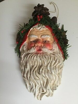 Santa Portrait Mask, Made with Paper Mache Clay | Ultimate Paper Mache | 400x300