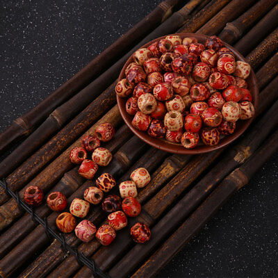 100Pcs Professional Craft Flowering Wood Beads Jewellery Making Bead Accessories