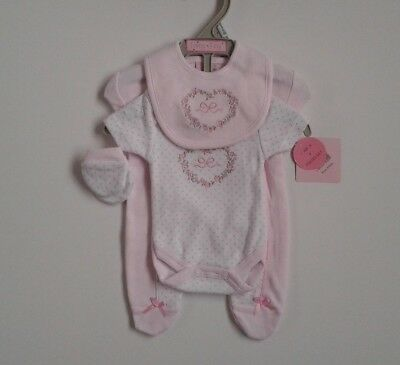 Premature preemie tiny baby girls clothes four piece set gift idea 3-5lbs 5-8 lb