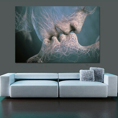 Love Kiss Abstract Art Canvas Painting Wall Art Picture Print Home Decor Fashion