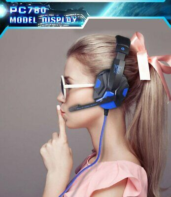 Gaming Headset Headphones PC780 for PC Mac Laptop PS4 Slim Xbox One Black & Red
