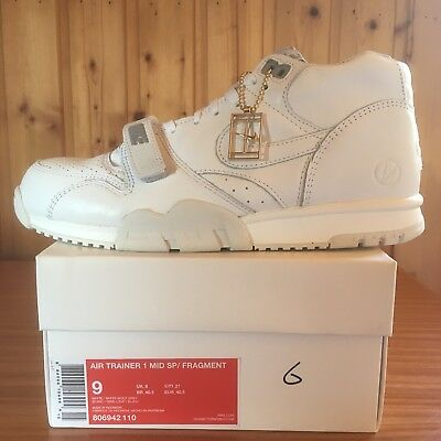 new arrival d9fe6 fda5e Nike Air Trainer 1 Mid SP Fragment All-White Triple-White 806942-