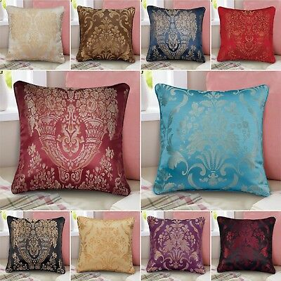 """18x18"""" Set of 2, 4, 6 Cushion Covers Or Filled Cushion Square Throw Decor Pillow"""