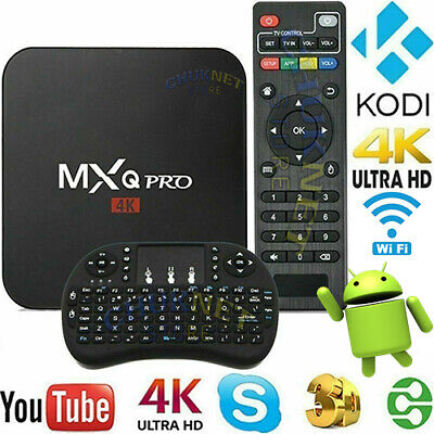 Smart Tv Android 4K Quad Core Wifi 2Gb 16Gb Mxq Pro Internet Iptv Tastiera Hdmi