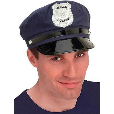 Police Costume Hat Adult One Size