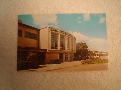 Vintage Terminal Photo Postcard,  Tampa International Airport, Tpa From 1960's
