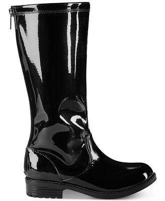 Girls/Kid Kenneth Cole Reaction Knee High Boots Patent Black Faux Leather Winter