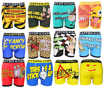 Mens Designer Novelty Rude Boxer Trunks Funny Christmas Gift Shorts Underwear