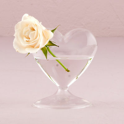 Heart Shaped Glass Vase Pack of 4