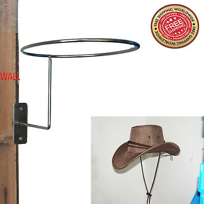 Cowboy Hat Rack Wall Mounted Coat Hat Hook Rack Hanger Holder Stand