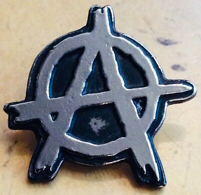 ANARCHY  BIG  Metal Pin Badge punk sex pistols exploited