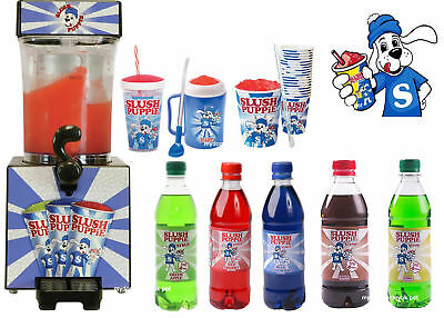 Slush Puppie Maker Slushie Drink Machine Frozen Ice Syrup Cup Puppy Slushy UK