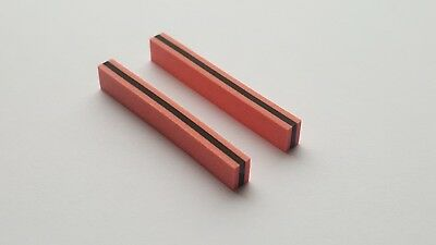 Two Zebra Strips (Elastomeric connectors) 45 x 6.3 x 4.5 mm (L x H x W)